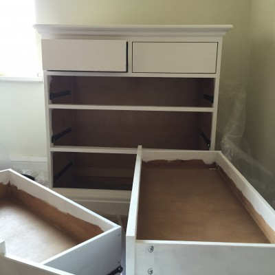 Upcycling drawers for the nursery