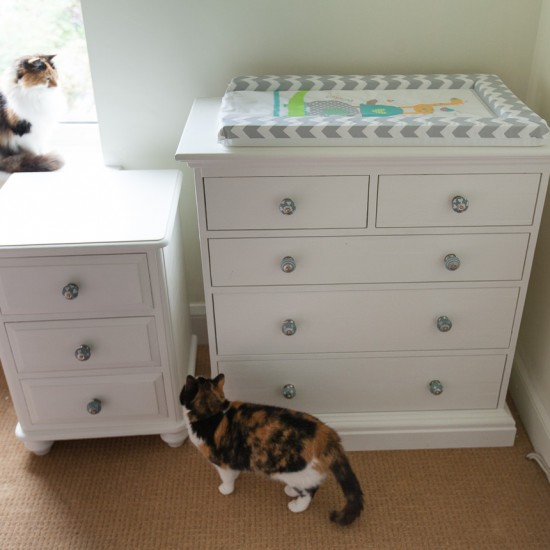 Upcycled nursery drawers