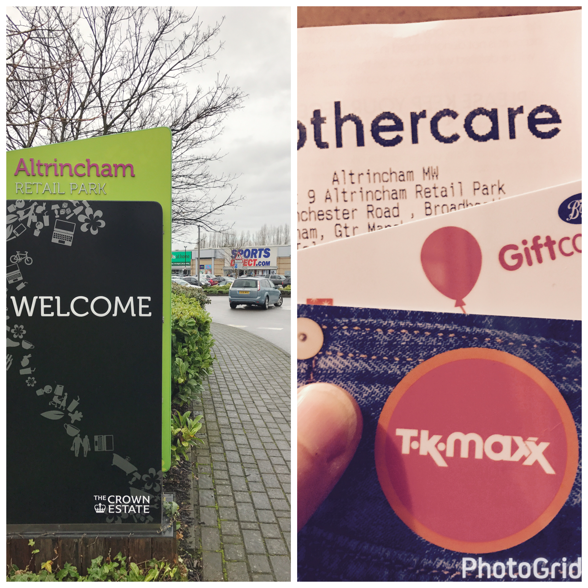 Altrincham Retail Park and gift cards