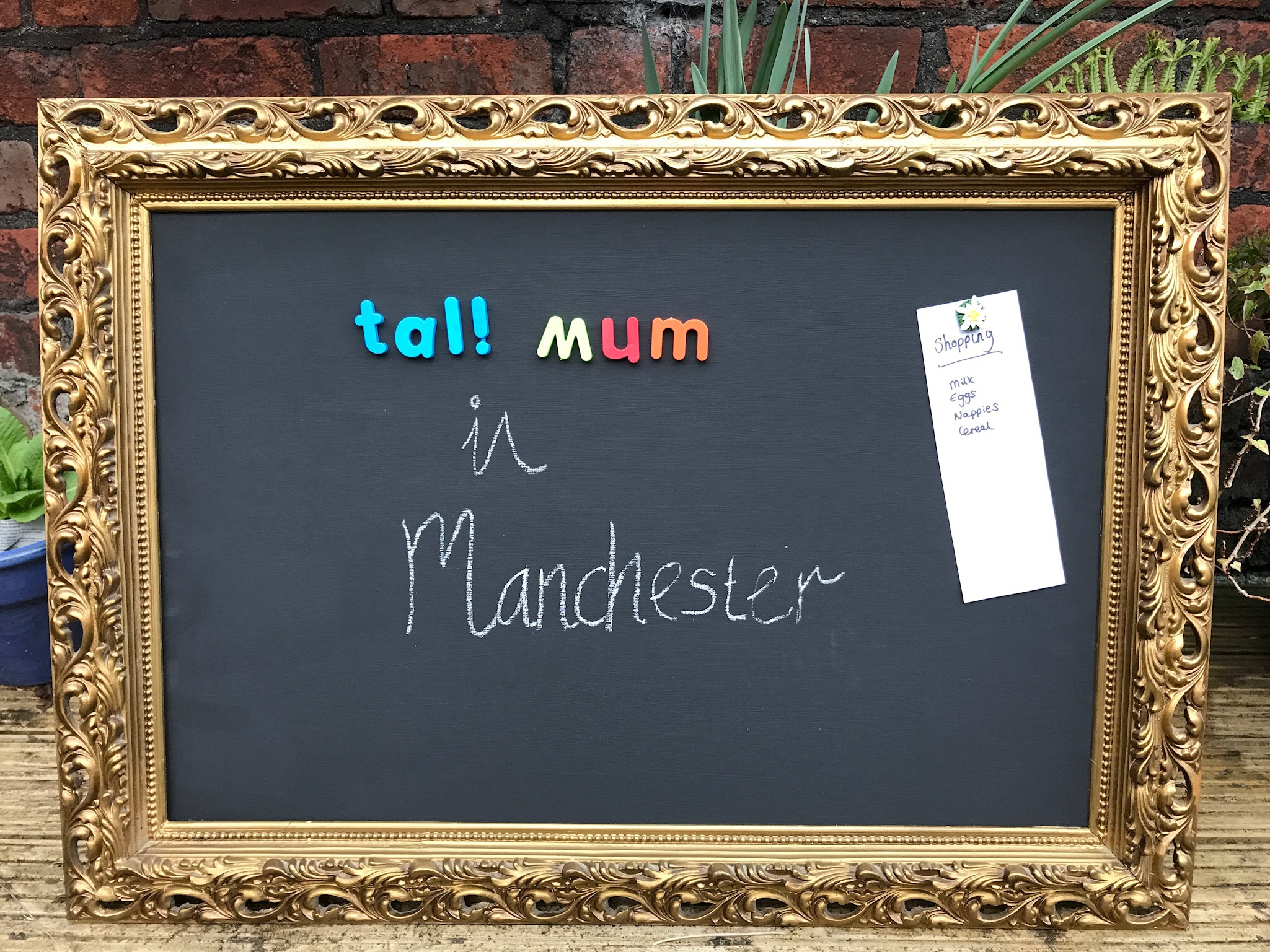 tall mum in manchester magnetic blackboard