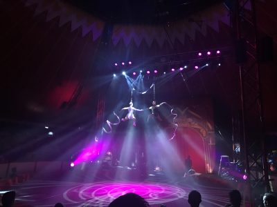 Acrobatics at Gandeys Circus