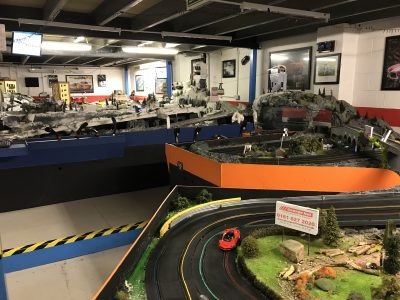 Scalextric tracks at Stonerig Raceway