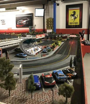 Scalextric track scene at Stonerig Raceway