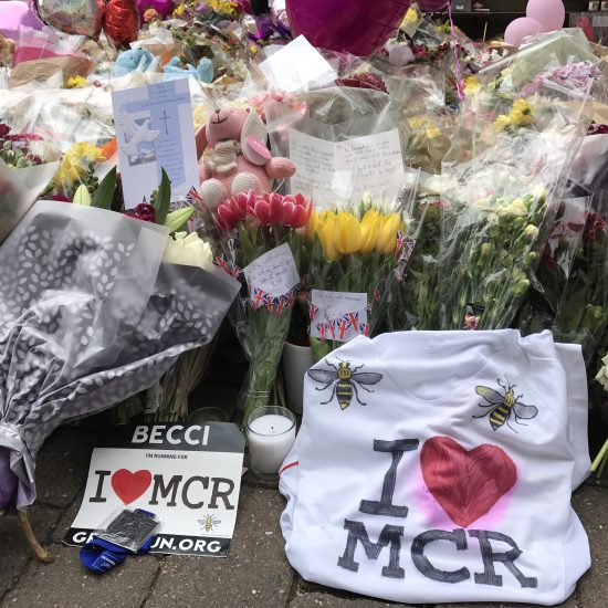 A tribute to Manchester terror attack victims