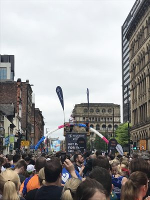 Tony Walsh reading 'Do Something' at the start of 2017 Great Manchester Run