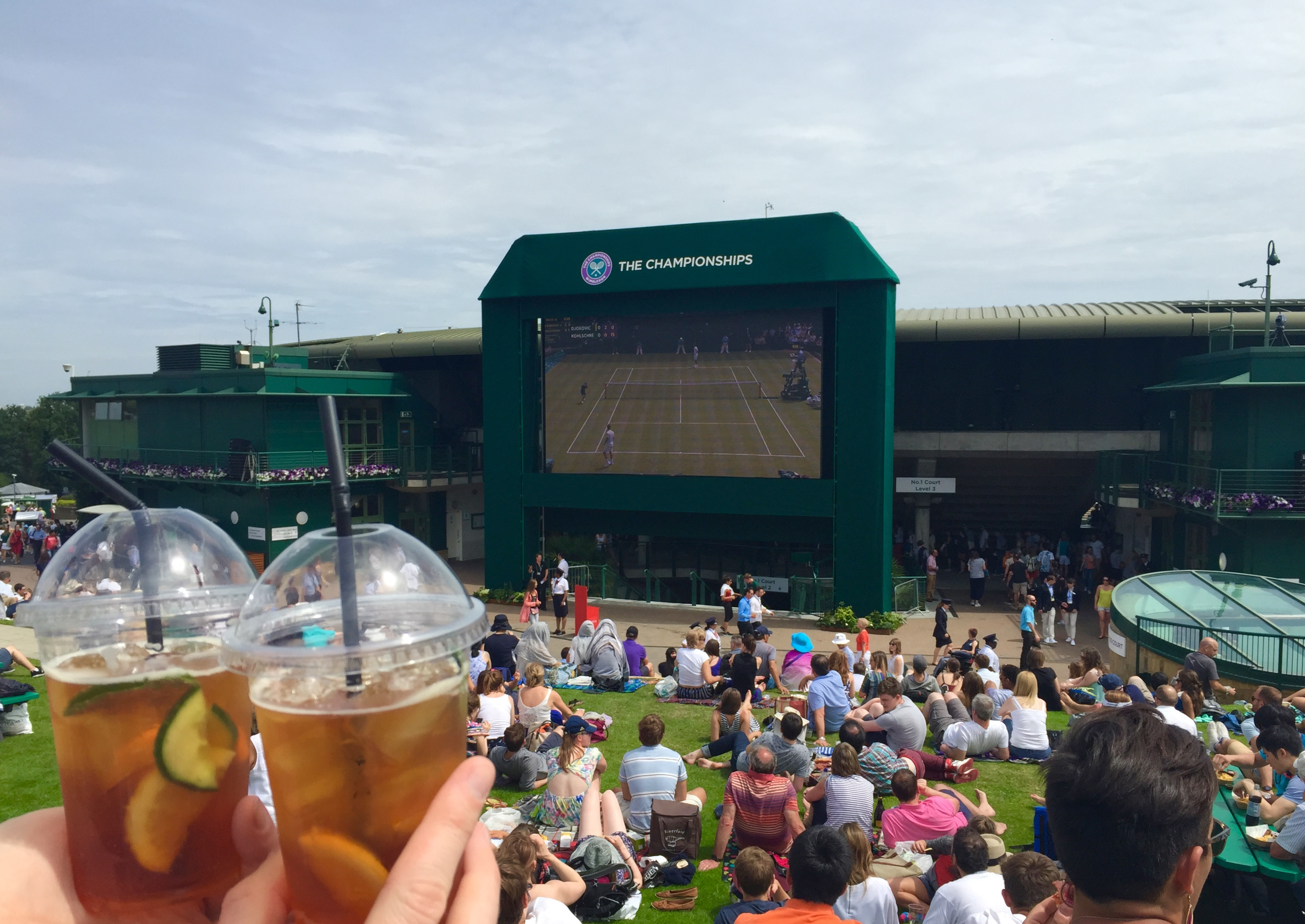 Pimm's on Henman Hill