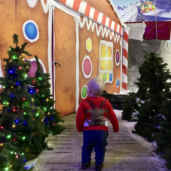 The road to Santa's Grotto