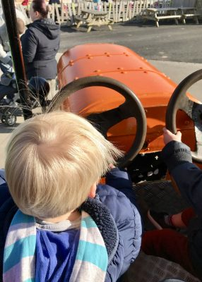 Tractor fun at the Ice Cream Farm