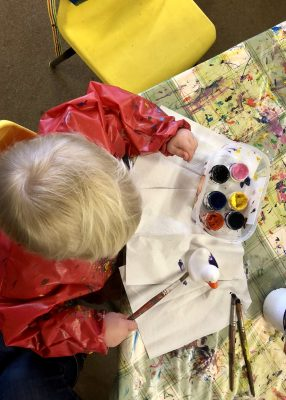 Painting at Martin Mere