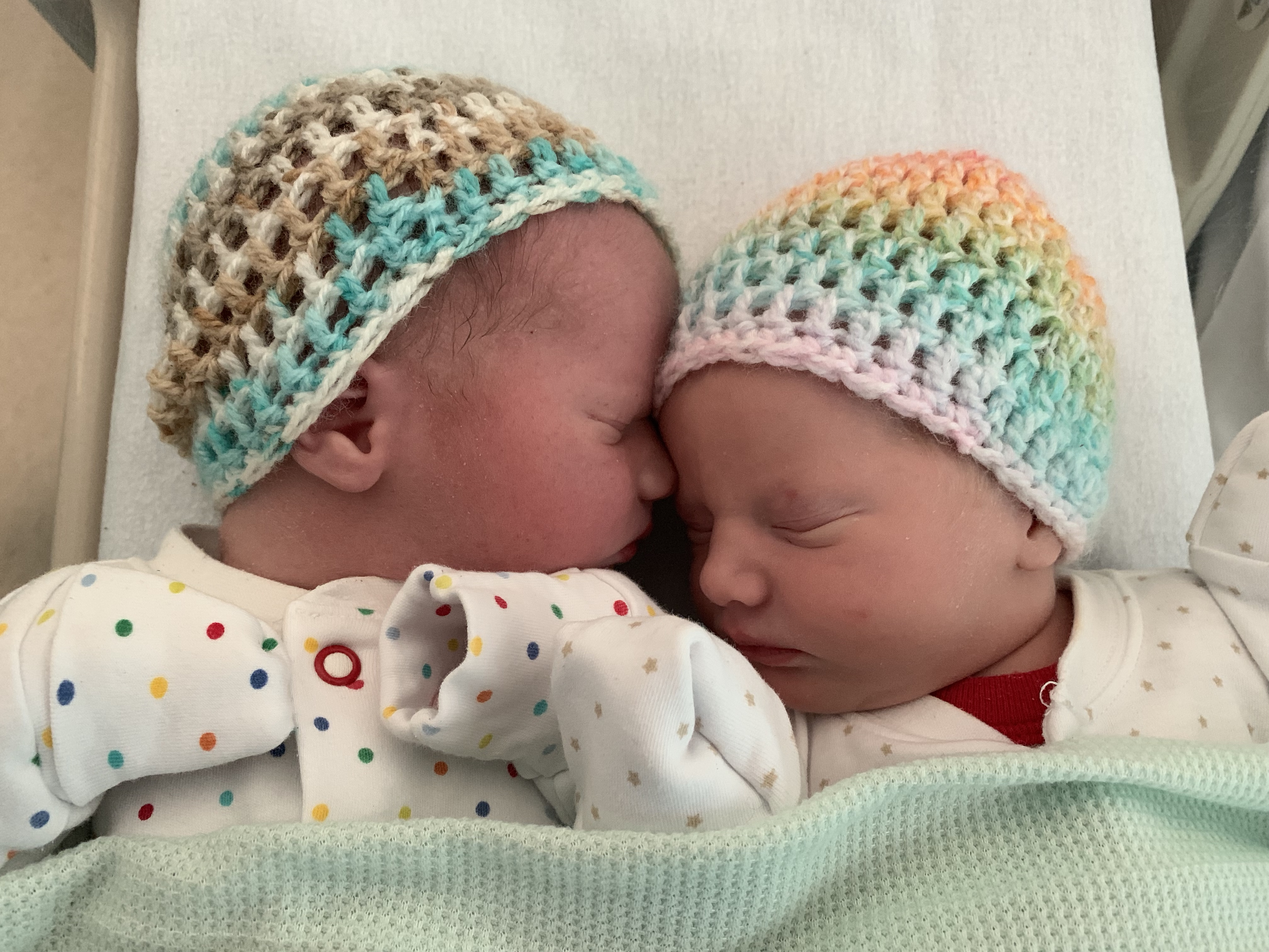 newborn twins, twin birth story