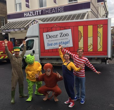Dear Zoo Tour Bus and Cast at Maidstone Hazlitt Theatre