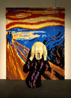 The Scream in Lego