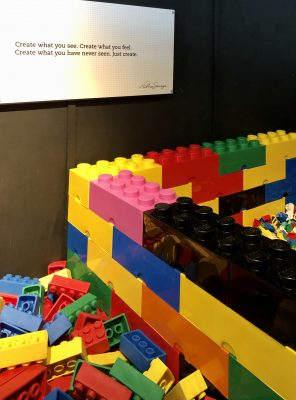 Lego creation area at The Art of The Brick